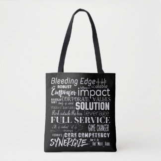Corporate Buzzwords Business Jargon Typography Art Tote Bag