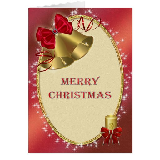 Corporate Christmas 'Merry Christmas' with bells Greeting Card