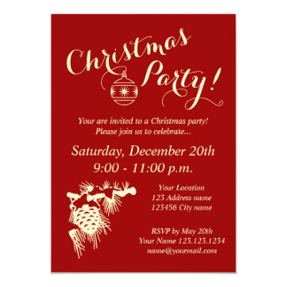 Corporate Christmas party invitations for company