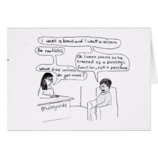 Corporate Communications Unicorn Card
