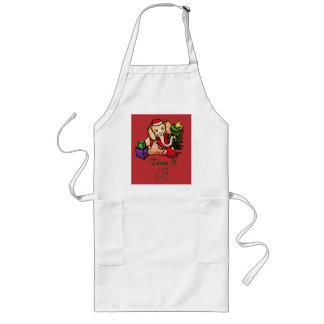 Corporate Cooking Class Christmas Elephant Team Long Apron