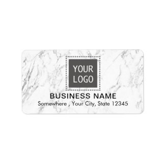 Corporate Custom Logo Modern White Marble Business
