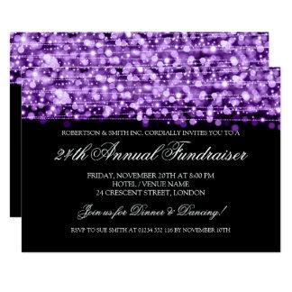 Corporate Fundraiser Gala Party Sparkles Purple Card
