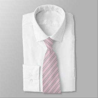 Corporate Gray Striped Pattern Tie