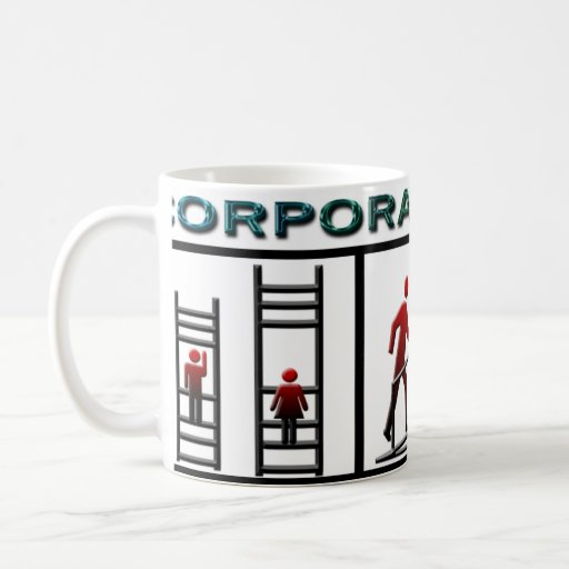 Corporate Ladder Basic White Mug