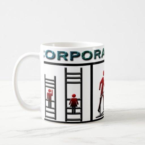 Corporate Ladder Classic White Coffee Mug