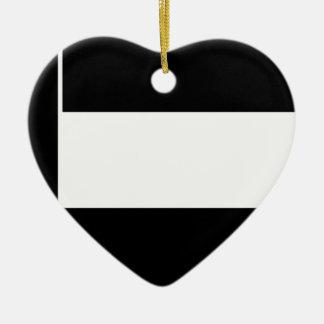 Corporate Logo Flag Ceramic Ornament