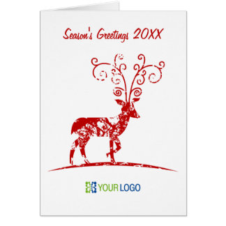 Corporate christmas cards with logo