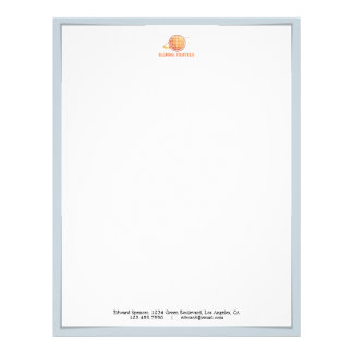 Corporate Logo Shadow Letterhead