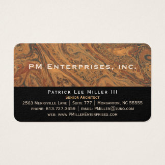 Corporate Marble Black Business Cards