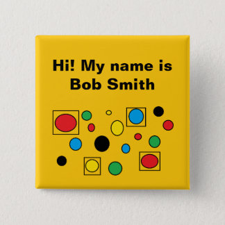 #corporate name tag badge by DAL 2 Inch Square Button