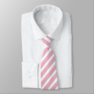 Corporate Pink & White Striped Tie