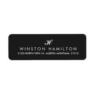 Corporate Style Black Return Address Return Address Label