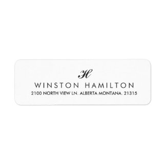 Corporate Style White Return Address