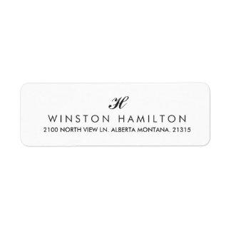 Corporate Style White Return Address Return Address Label