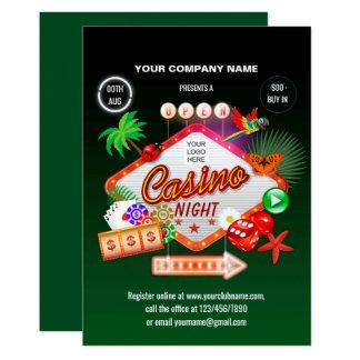 Corporate Summer Holidays Casino Night invitation