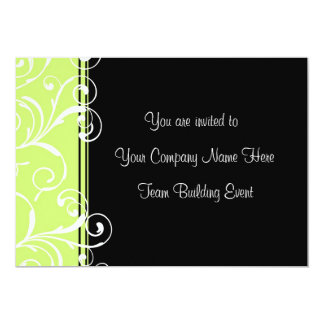 Corporate Team Building Event Invitations Green