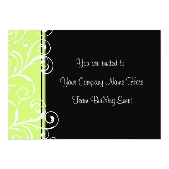 Corporate Team Building Event Invitations Green | Zazzle.ca