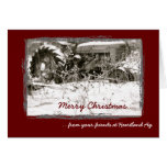 Corporate Tractor Christmas Card