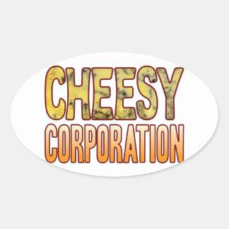 Corporation Blue Cheesy Oval Sticker