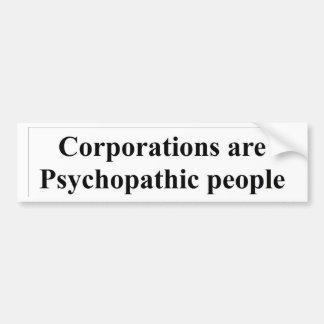 Corporations don't have civil rights bumper sticker