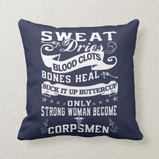 Corpsman Woman Throw Pillow