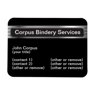 Corpus Bindery Services Magnet Business Card