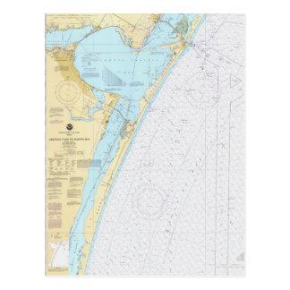 Corpus Christi Nautical Chart Postcard