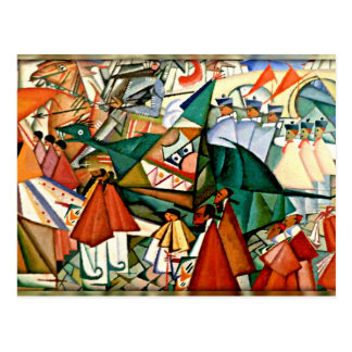 Corpus Christi Procession -Amadeo de Souza-Cardoso Postcard