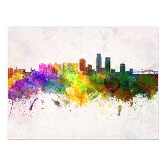 Corpus Christi skyline in watercolor background Arte Fotográfico