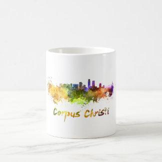 Corpus Christi skyline in watercolor Coffee Mug