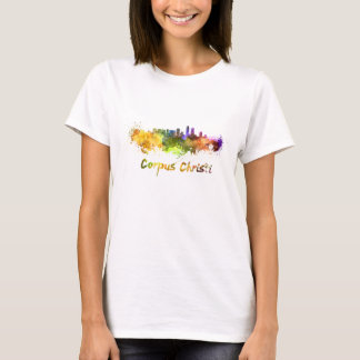 Corpus Christi skyline in watercolor T-Shirt