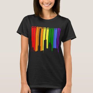 Corpus Christi Texas Gay Pride Rainbow Skyline T-Shirt