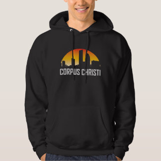 Corpus Christi Texas Sunset Skyline Hoodie