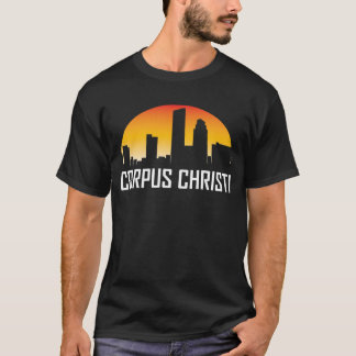 Corpus Christi Texas Sunset Skyline T-Shirt