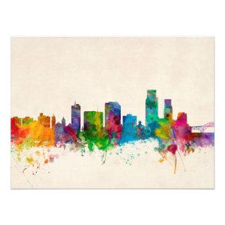 Corpus Christie Texas Skyline Art Photo