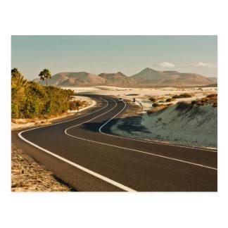 Corralejo Desert Road Postcard