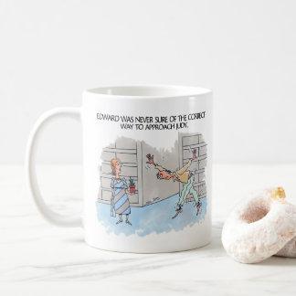 Correct Approach right hand cartoon mug