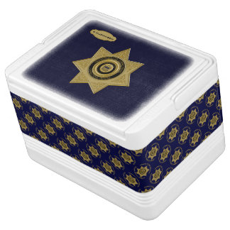 Correctional Officer Badge Gold-Blue-12 Can Igloo