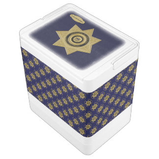 Correctional Officer Badge Gold-Blue-24 Can Igloo