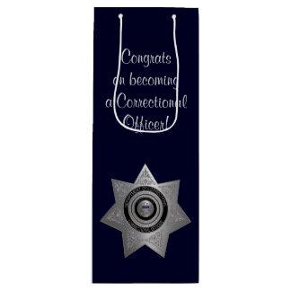 Correctional Officer Badge,Silv-Blue-Wine Gift Bag