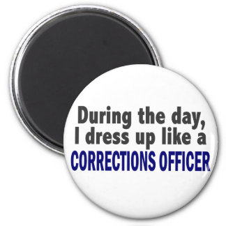 Corrections Officer During The Day 2 Inch Round Magnet