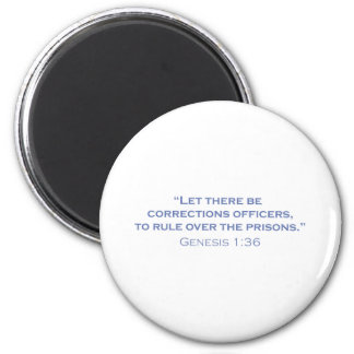 Corrections Officers / Genesis 2 Inch Round Magnet