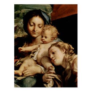 Correggio Madonna des Hl. Hieronymus (Der Tag), Sz Postcard