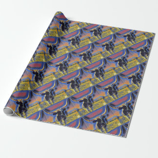 Corriente Cattle Mosaic Gift Wrap Collection