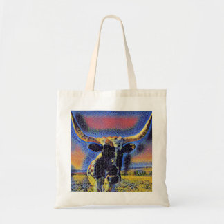 Corriente Cattle Mosaic Tote by Jacqueline Kruse