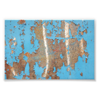 Corroded-metal1617 BLUE RUST TEXTURES METALS SHINY Photo Art