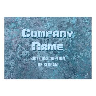 Corrosion blue print 'description' chubby large business card