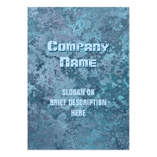 Corrosion blue print vertical chubby business cards