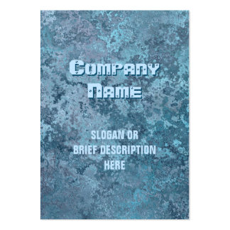 Corrosion blue print vertical chubby large business card
